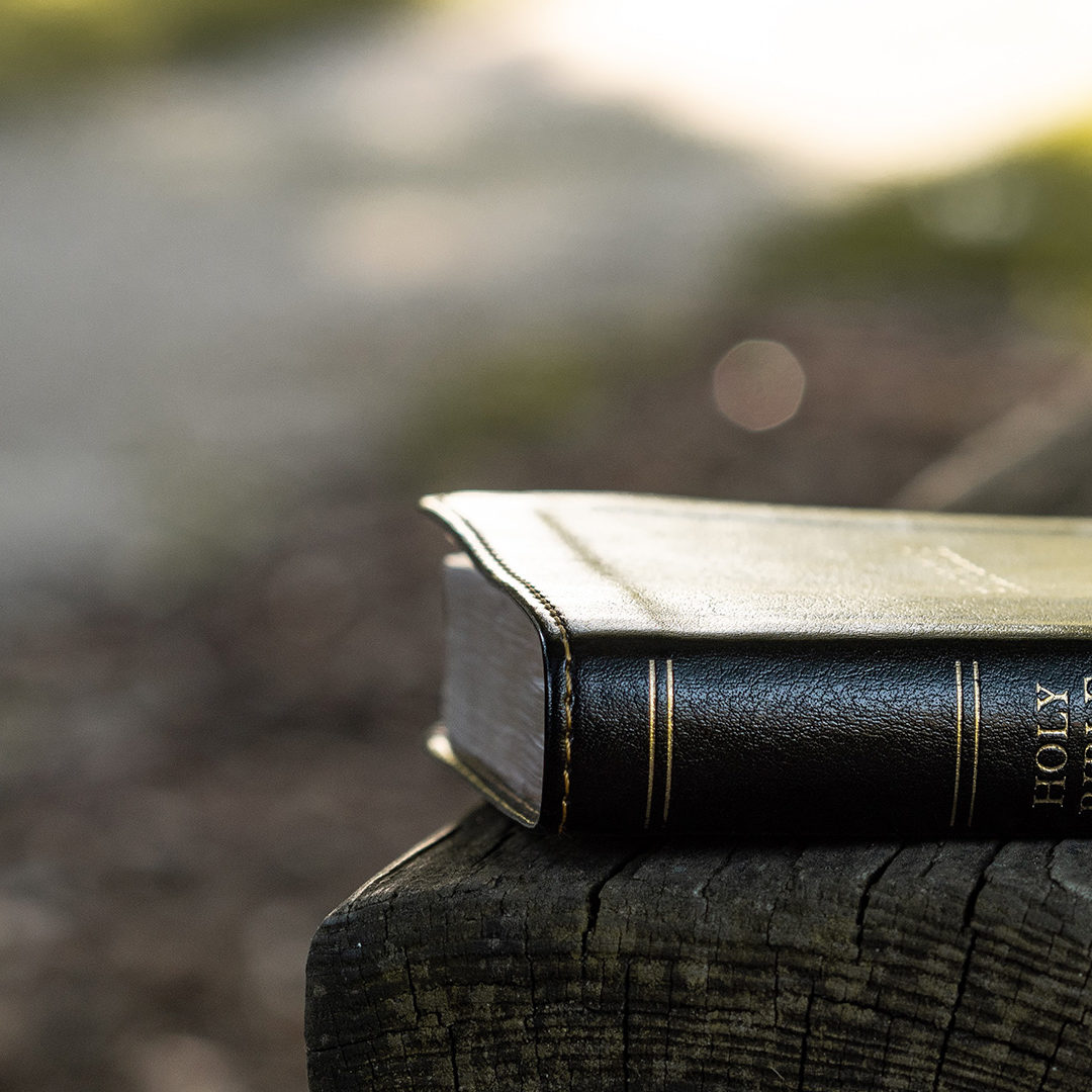 Holy-Bible-on-black-wooden-bench